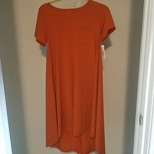 Lularoe orange hi-lo fall dress